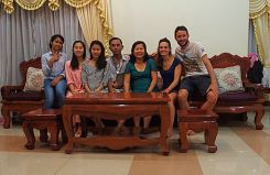 Cambodge avec notre famille d'accueil