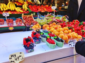 Marché fruits